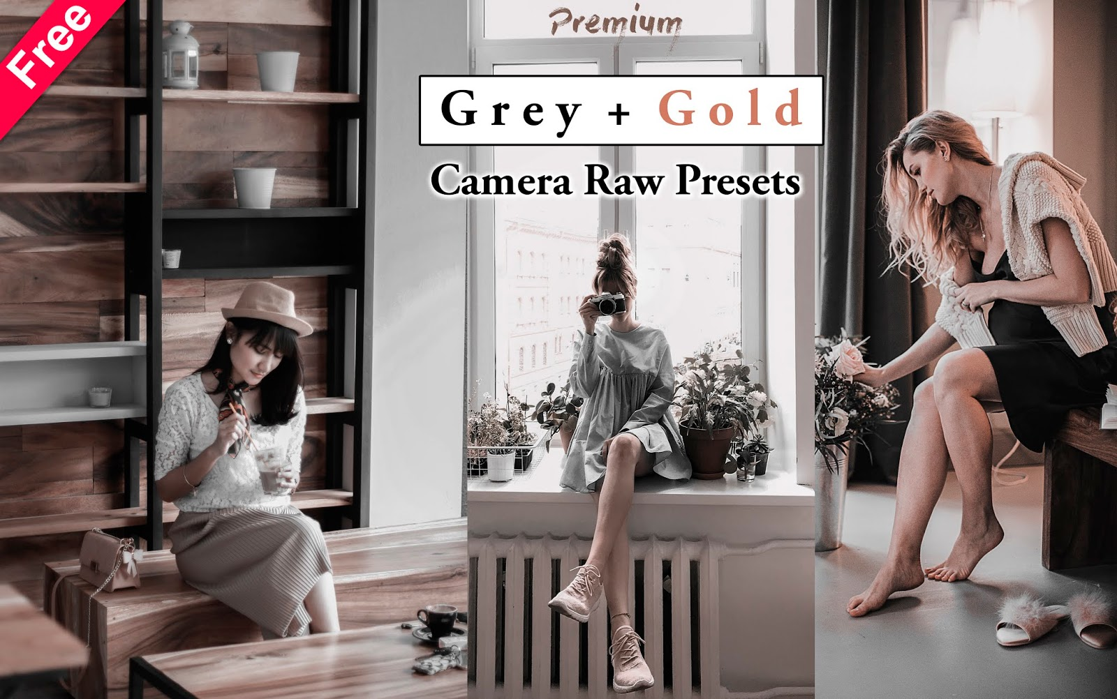 Download Premium Grey & Gold Camera Raw Preset for Free | How to Edit Grey Gold Effect in Photoshop