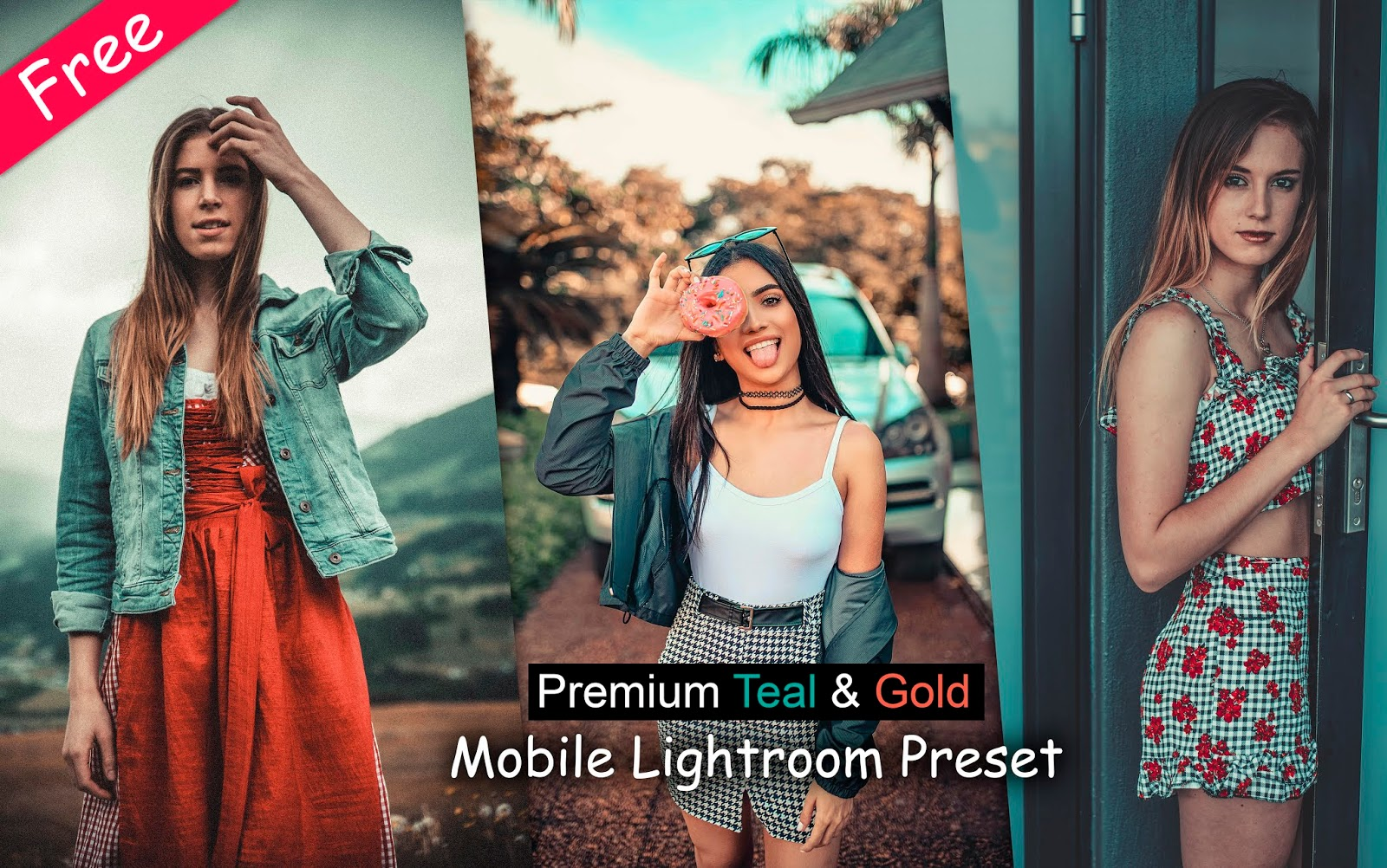 Download Premium Teal & Gold Mobile Lightroom Preset for Free | How to Edit Teal & Orange in Mobile Lightroom