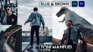 Download Free Toni Mahfud Inspired Blue & Brown LUTs | How to Colorgrade Photos & Videos Like Toni Mahfud Blue & Brown Effect in Photoshop & Premiere Pro