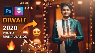 Diwali Special Photo Editing Tutorial 2020 in Photoshop | Realistic Luxurious Ethnic Brand Theme Photo Manipulation | Men Holding Diya in Hand