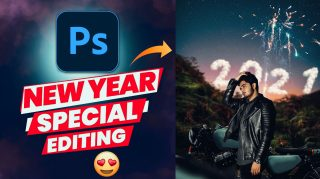 Happy New Year 2021 Special Photo Editing in Photoshop Hindi Tutorial - Ash-Vir Creations