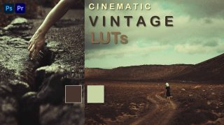 Cinematic Vintage Film LUTs of 2021 for Free | How to Colorgrade Cinematic Vintage Effect to Photos & Videos in Photoshop & Premiere Pro