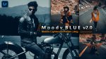 Moody Blue v2.0 Lightroom Mobile Presets DNG of 2021 for Free | Moody Blue v2.0 Mobile Lightroom Preset DNG of 2021 for free