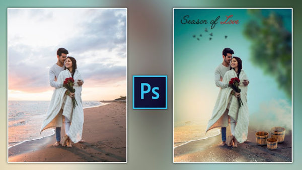 How to Edit Your Pre-Wedding Photo in Photoshop | Romantic Couple Photo Editing in Photoshop