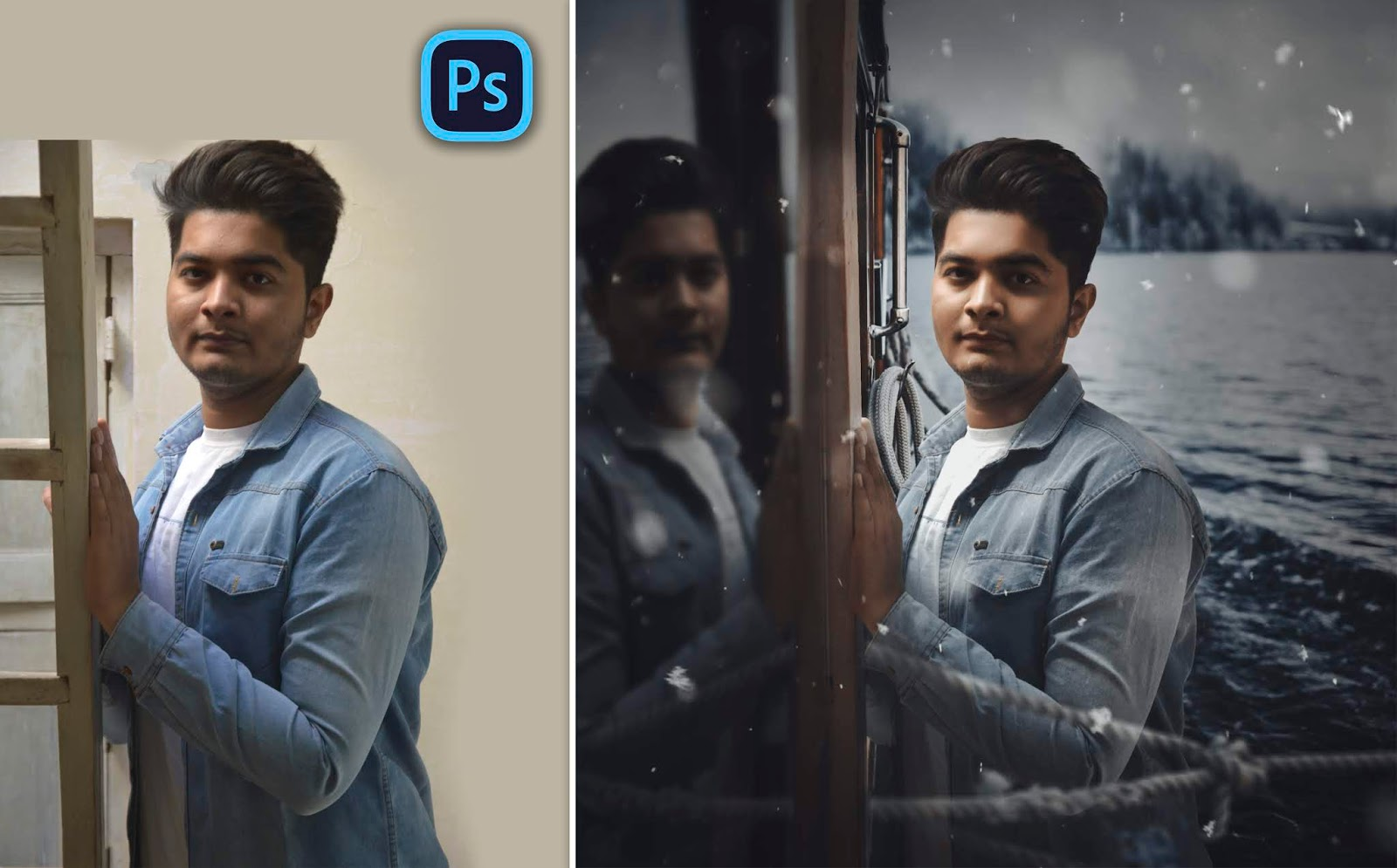 New Concept | Reflection on Window like Trending Instagram Moody Portraits Photo Editing in Photoshop cc