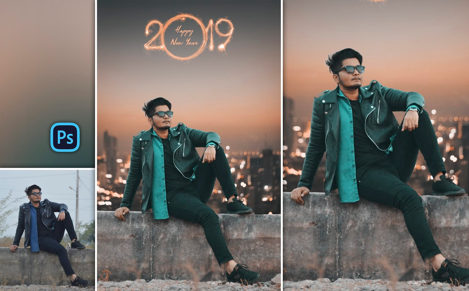 Realistic New Year 2019 New Concept | Photo Editing in Photoshop cc
