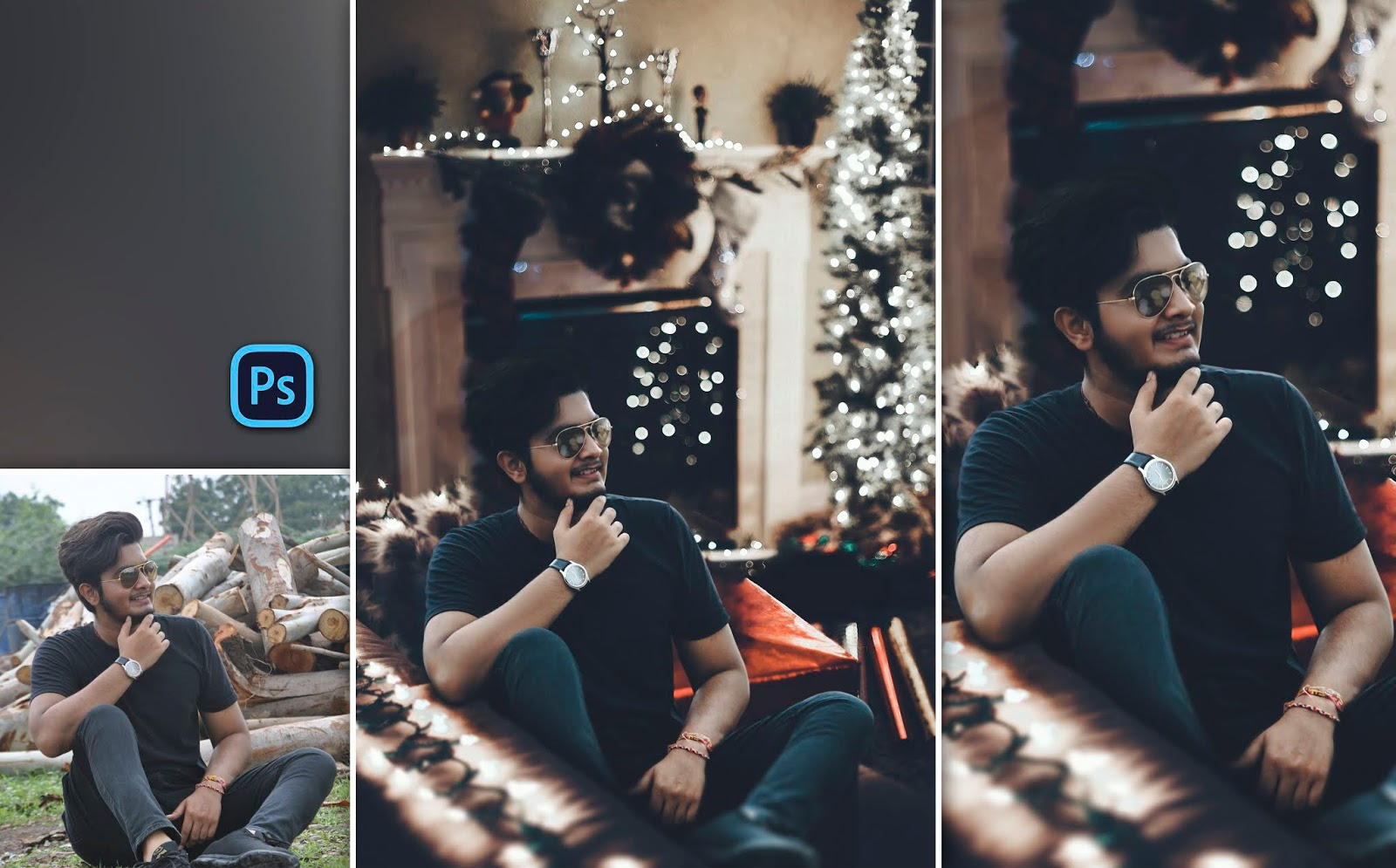 Christmas Special Photo Editing in Brandon Woelfel Bokeh Style in Room in Photoshop cc