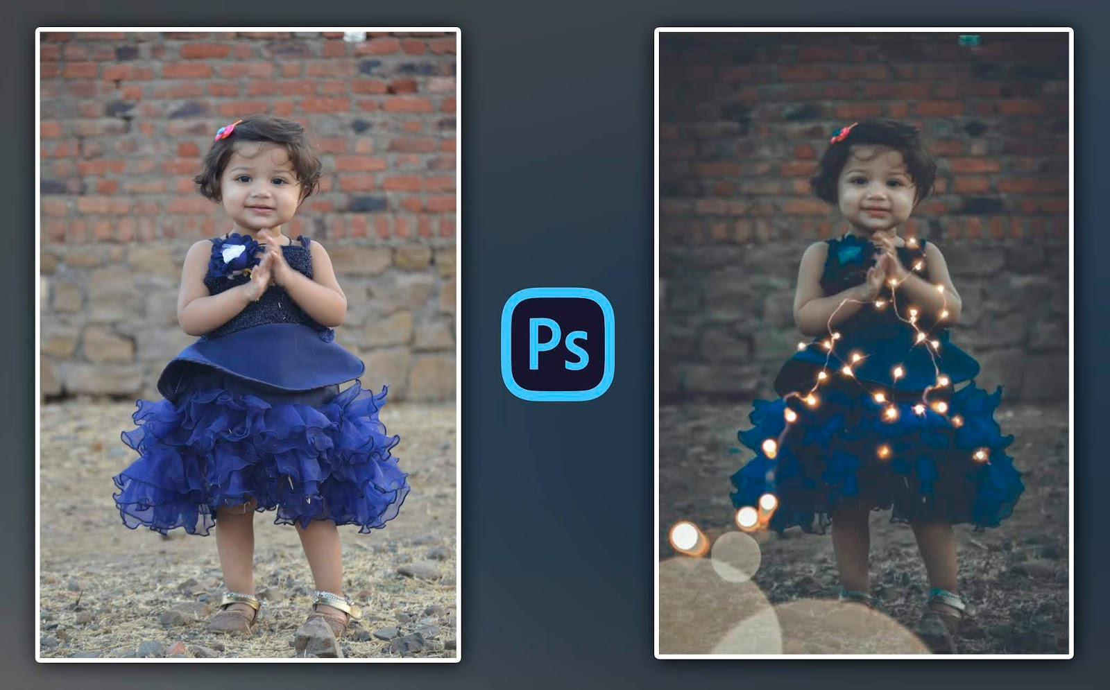 How to Edit Child Portraits in Photoshop cc | Fairy Lights & Moody Child Photo Editing