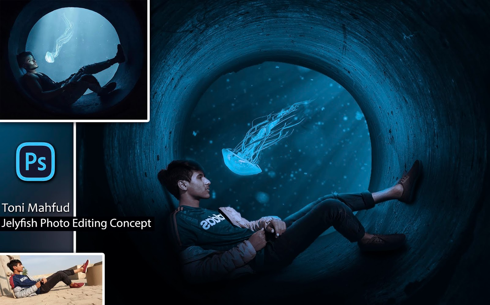 Jellyfish Concept | Toni Mahfud Style Photo Editing | How to Edit Photo Like Toni Mahfud in Photoshop cc