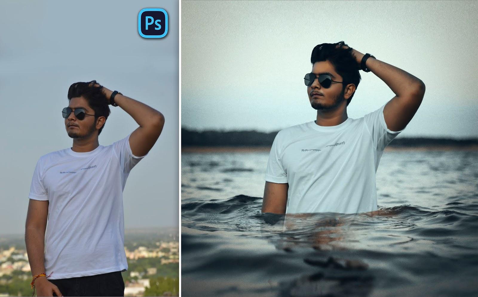 Toni Mahfud Style | Boy on Ocean Photo Manipulation in Photoshop cc | How to Edit Like Toni Mahfud