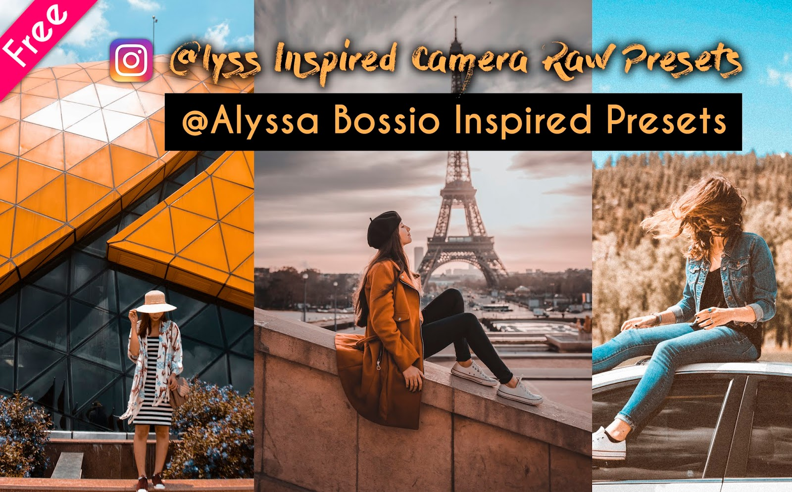 Download @alyssa_bossio Inspired 8 Camera Raw Presets for Free | How to Edit Photos Like @lyssa in photoshop
