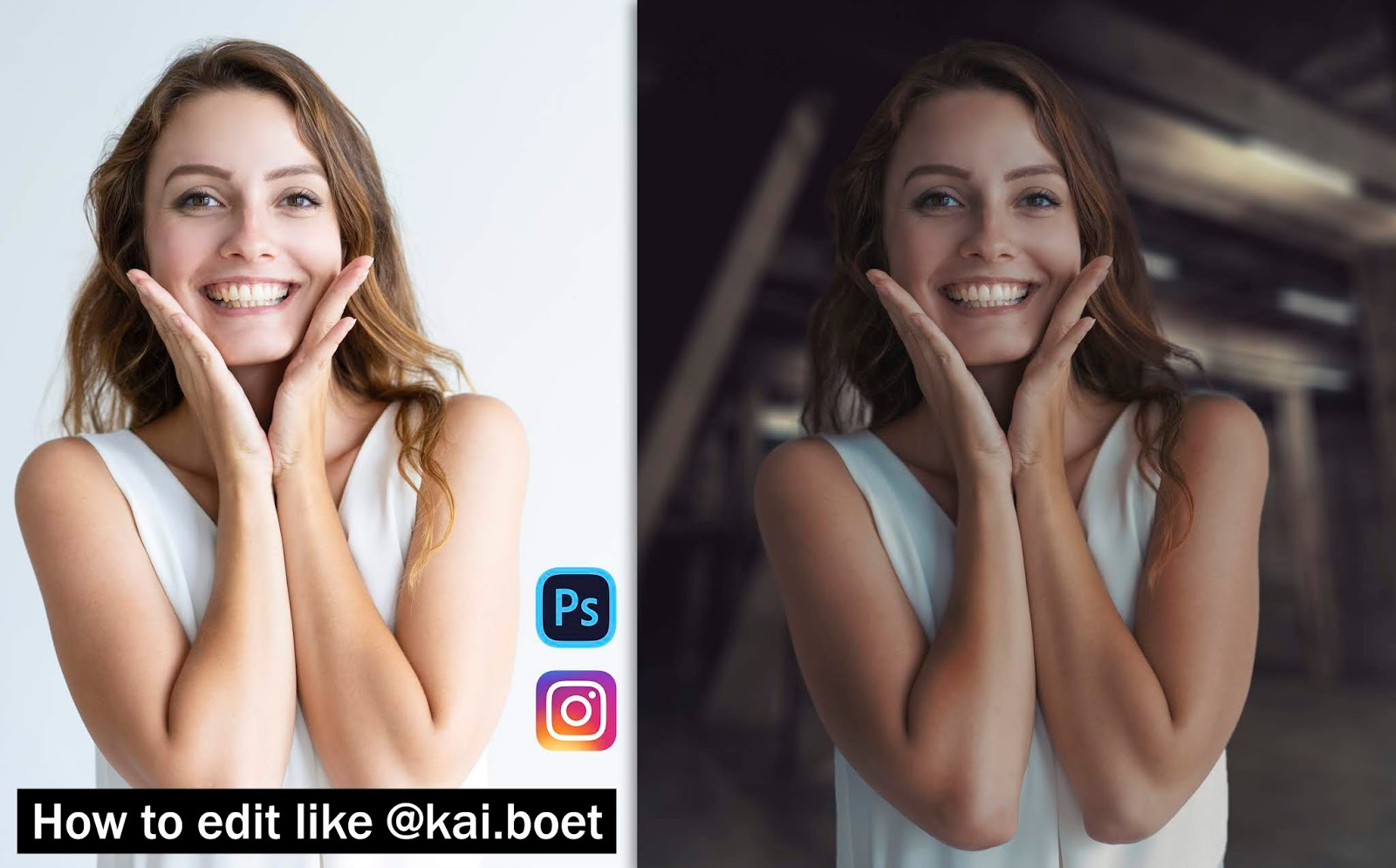 How to Edit Portraits Like @kai.boet in Photoshop | How to Edit Photos LIke Kai.Bottcher in Photoshop