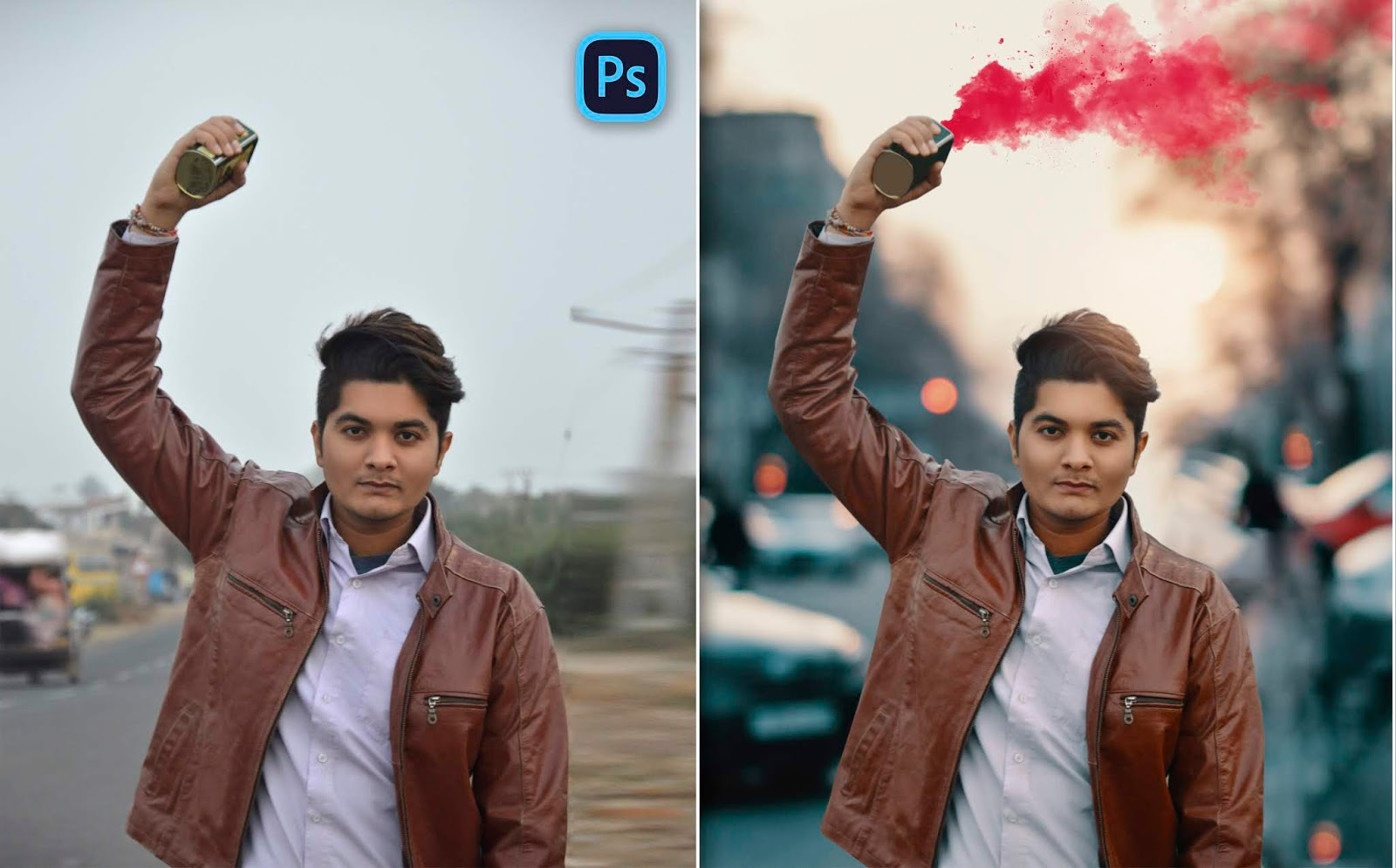 2019 | Color Smoke Bomb Photo Editing for Instagram in Photoshop | How to do Color Smoke Bomb Photo Manipulation