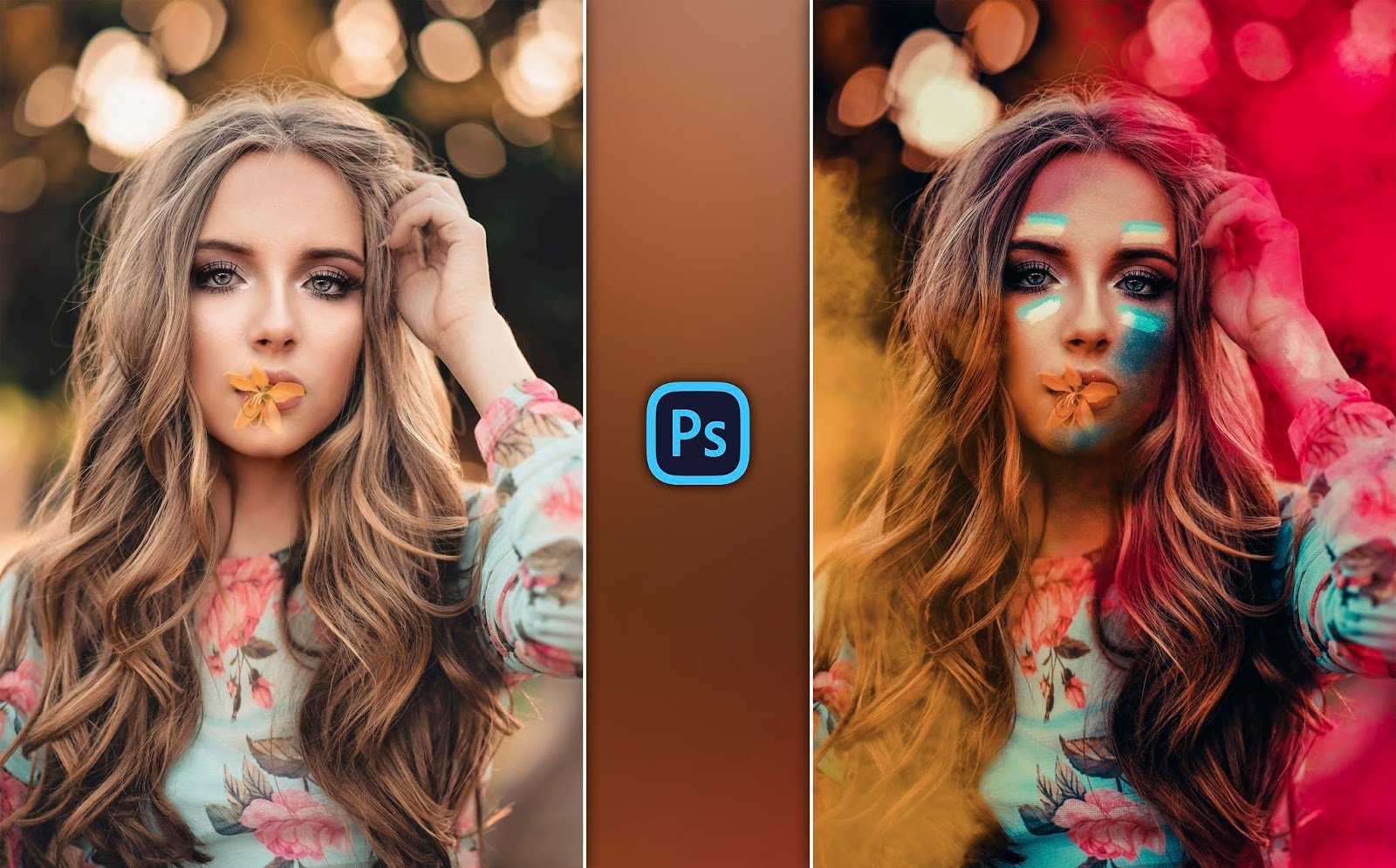 Holi Special Girl Photo Editing in Photoshop cc | Colorful Girl Portrait Editing for Instagram