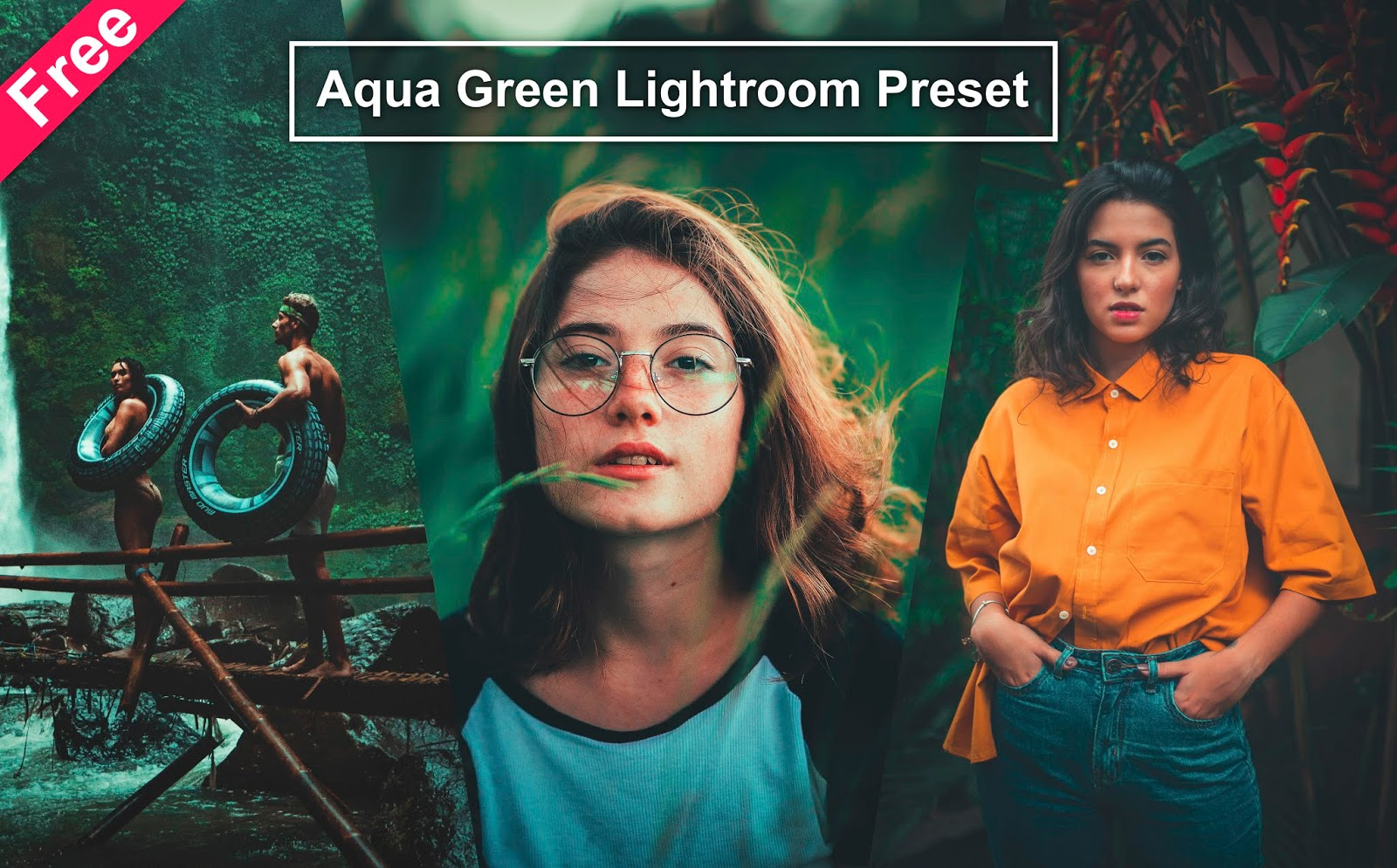 Download Aqua Green Lightroom Preset For Free | How to Make Aqua Green Effect to Photos in Lightroom