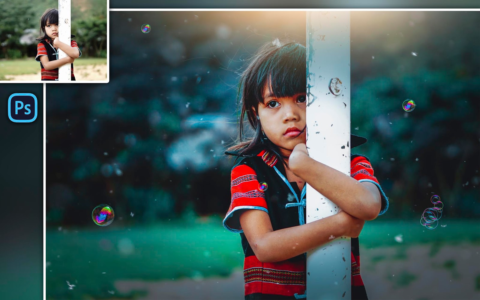 How to Edit Child Photo in Photoshop cc | How to Edit Outdoor Child Portrait in Photoshop
