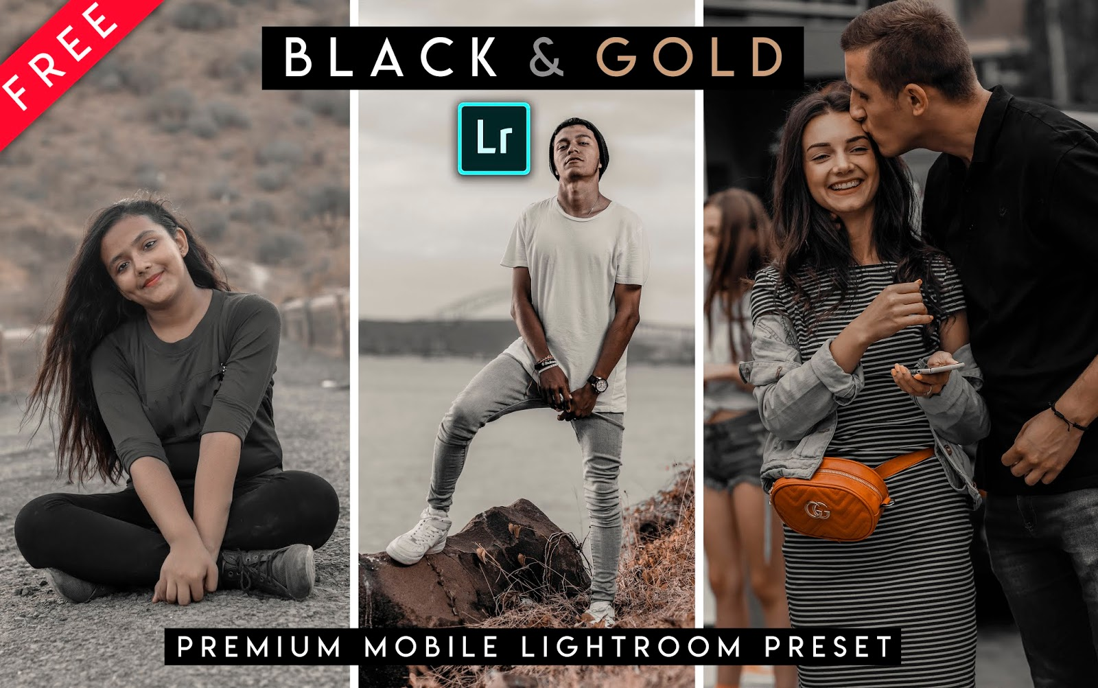 Download Black & Gold Mobile Lightroom Preset for Free | How to Edit Black & GOld color in Mobile Lightroom