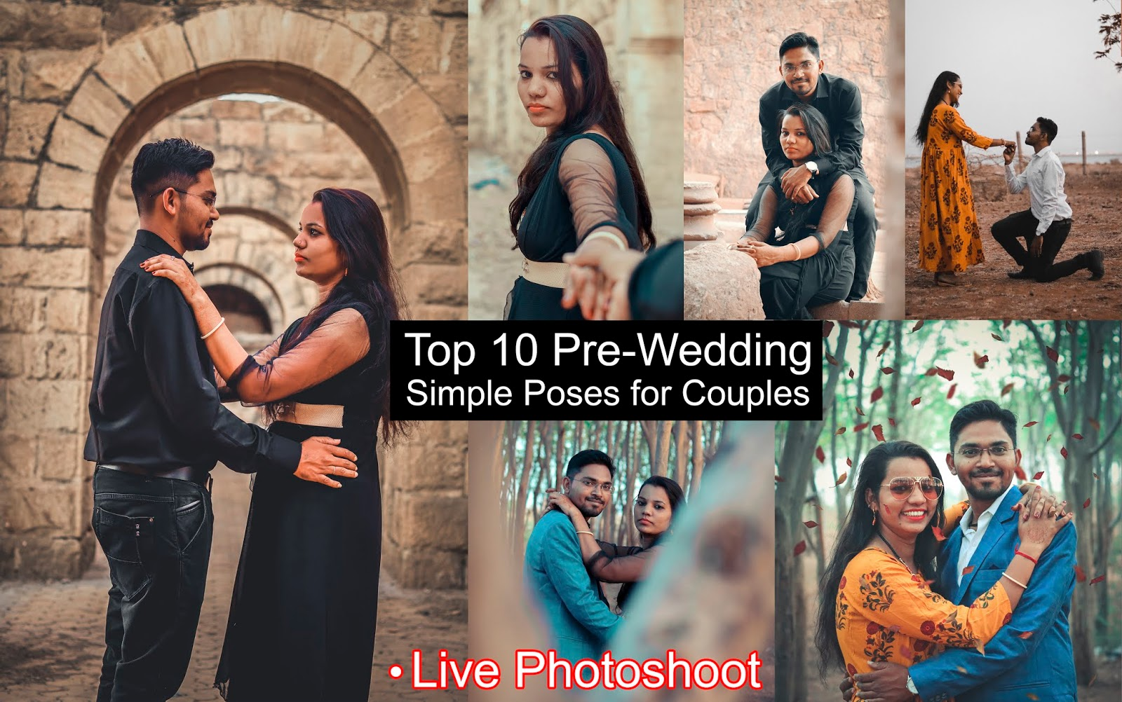 Top 10 Simple Poses for Couples with Presets | Couple Photography | Top 10 Pre-Wedding Couple Poses