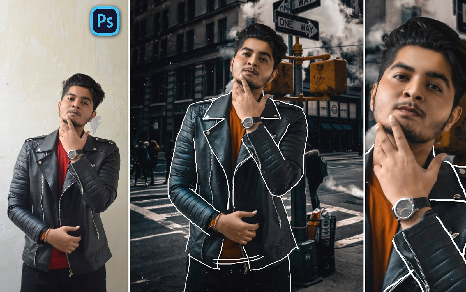 Gold Skin Like Toni Mahfud | Todler Line Effect on Jacket | How to Edit Photos Like Toni Mahfud in Photoshop