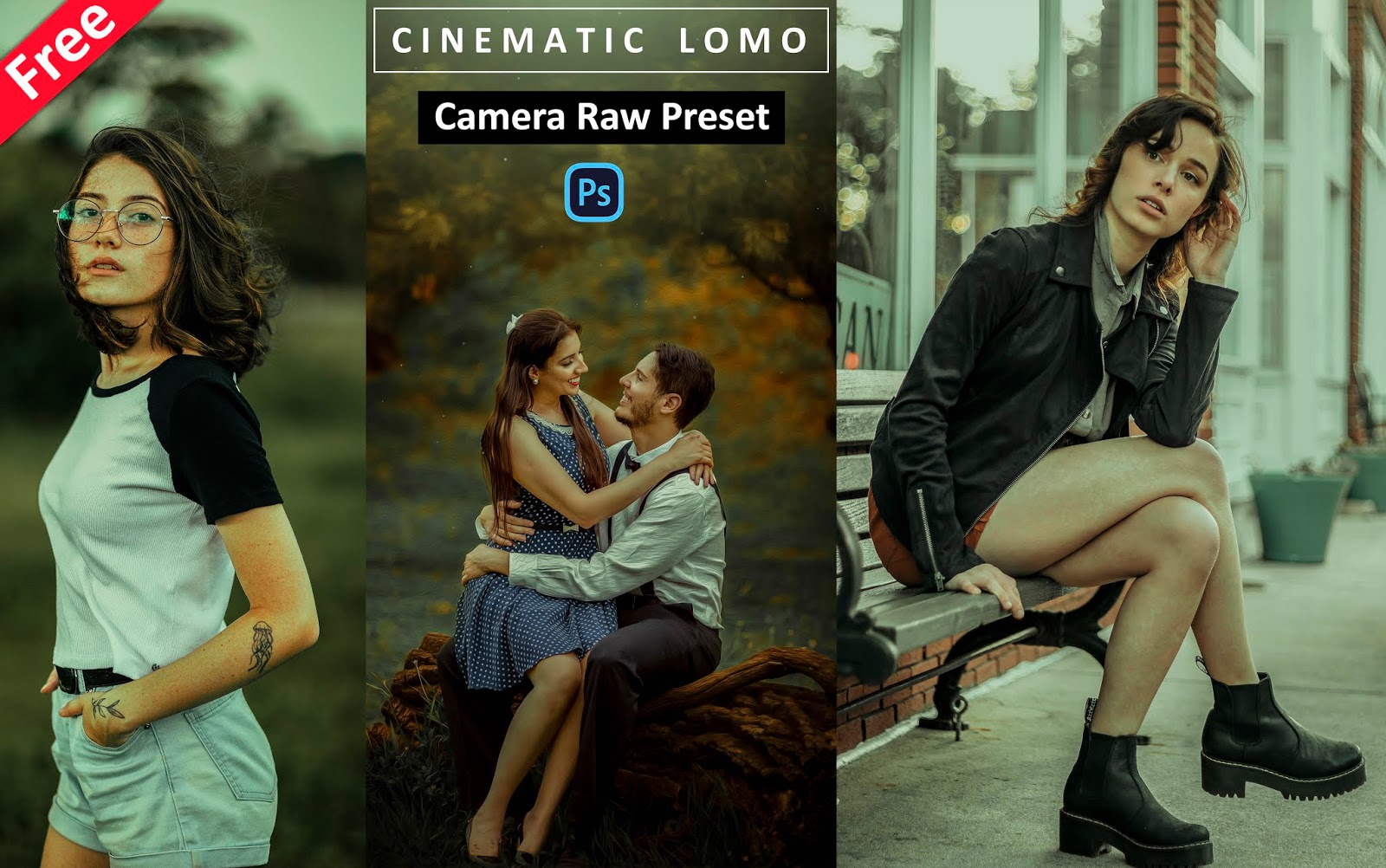 Download Cinematic LOMO Camera Raw Preset for Free | How to Create LOMO Effect in Photoshop