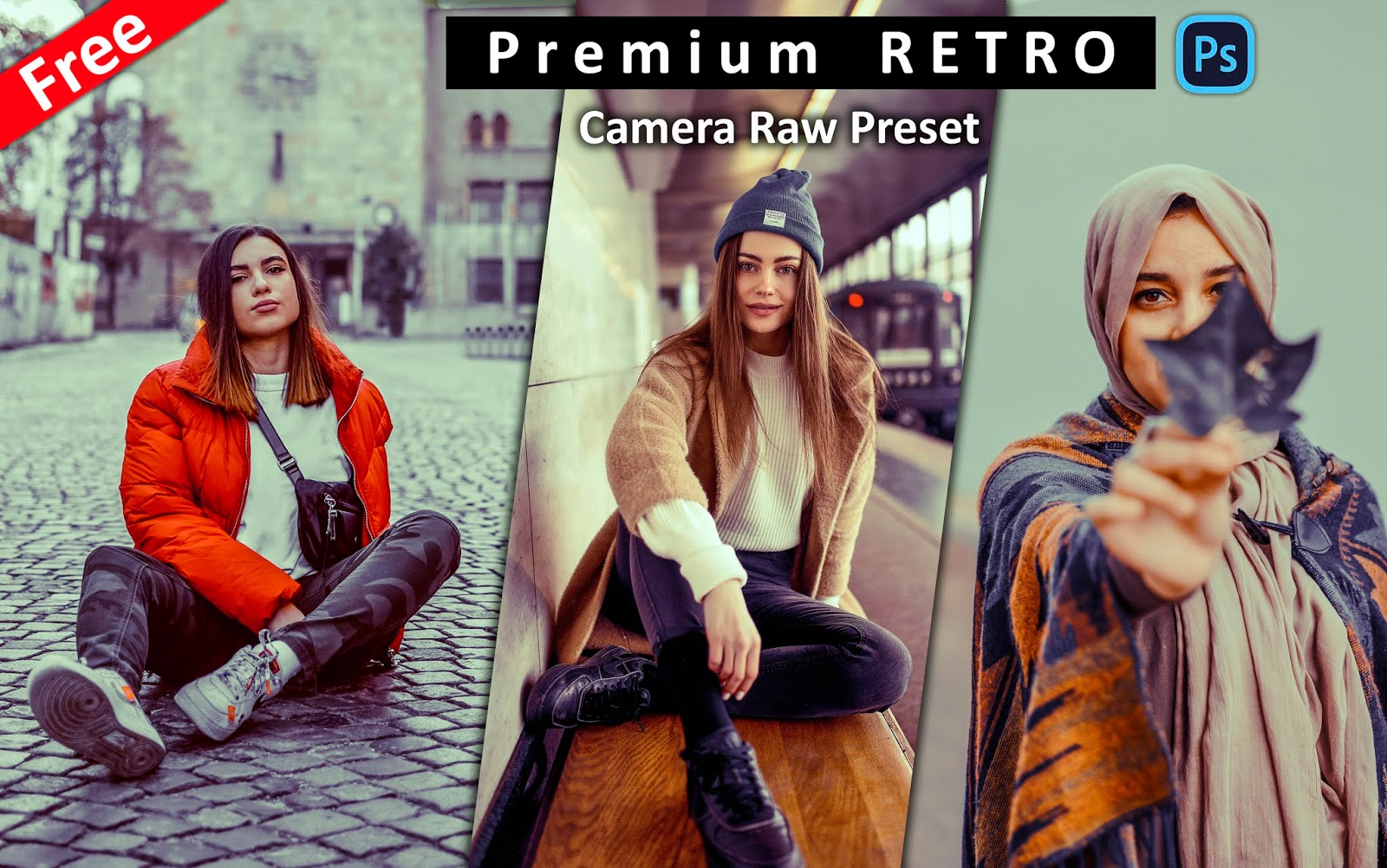 Download Premium RETRO Camera Raw Preset for Free | How to Make Retro Effect in Photoshop