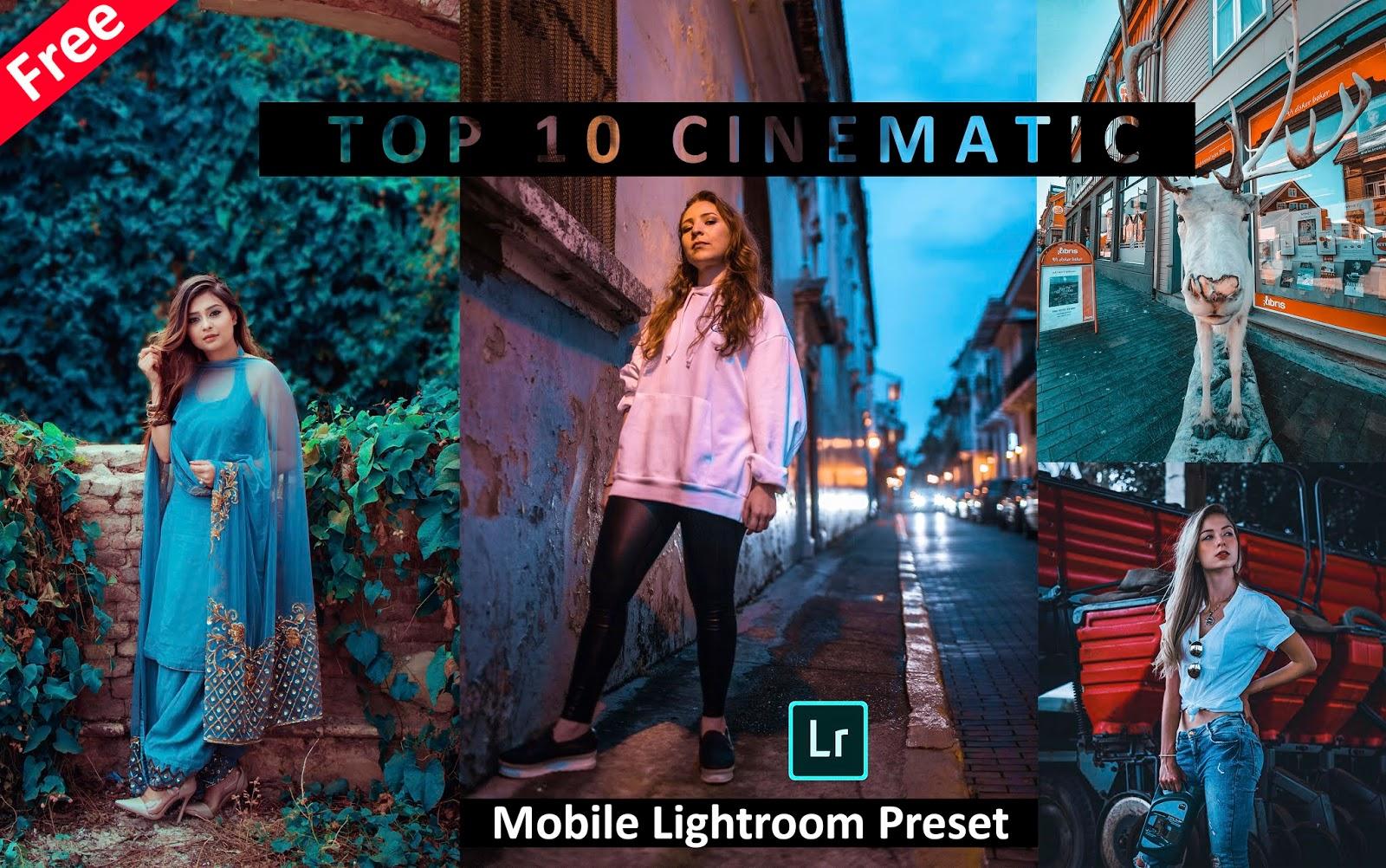 Download Top 10 CINEMATIC Mobile Lightroom Presets for Free | Cinematic Effect in Mobile Lightroom