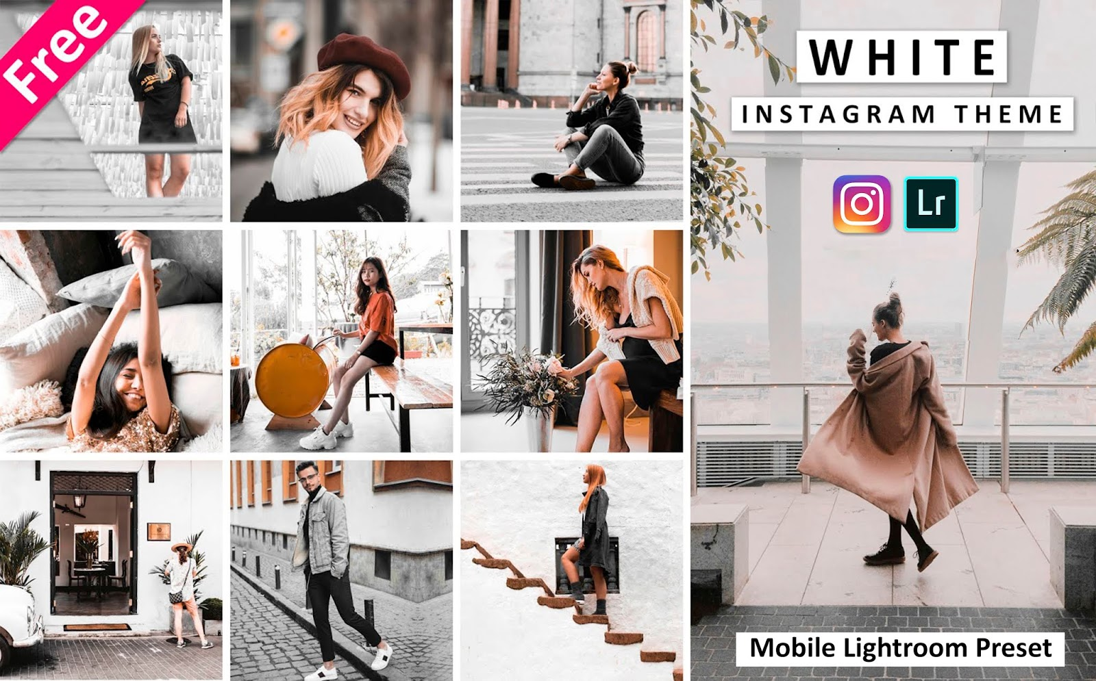 Download Instagram White Mobile Lightroom Presets for Free | How to Create White Theme of Instagram in Mobile Lightroom