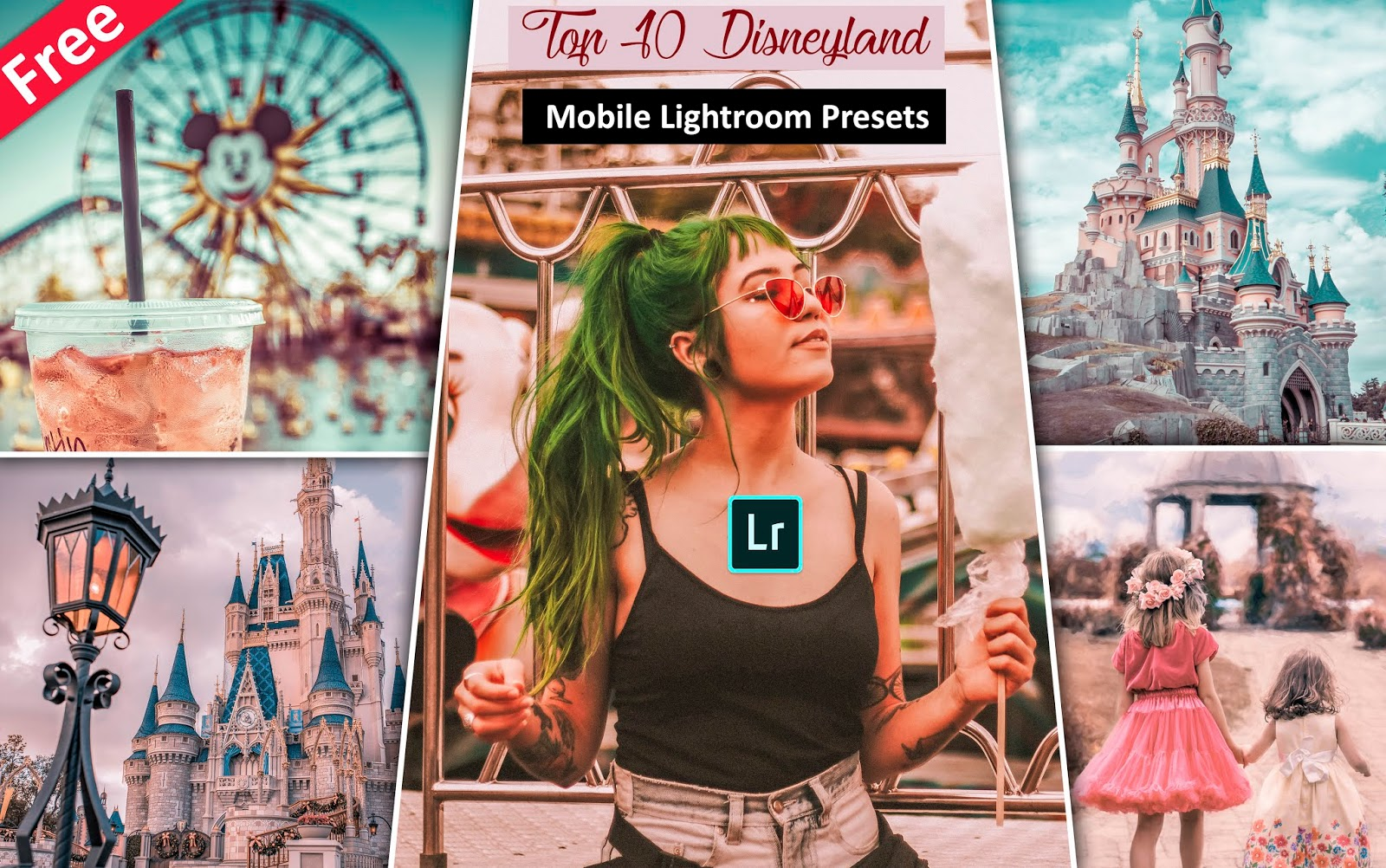 Download Top 10 Disneyland Mobile Lightroom Presets for Free | How to Edit Travel Disneyland Photos in Mobile LIghtroom