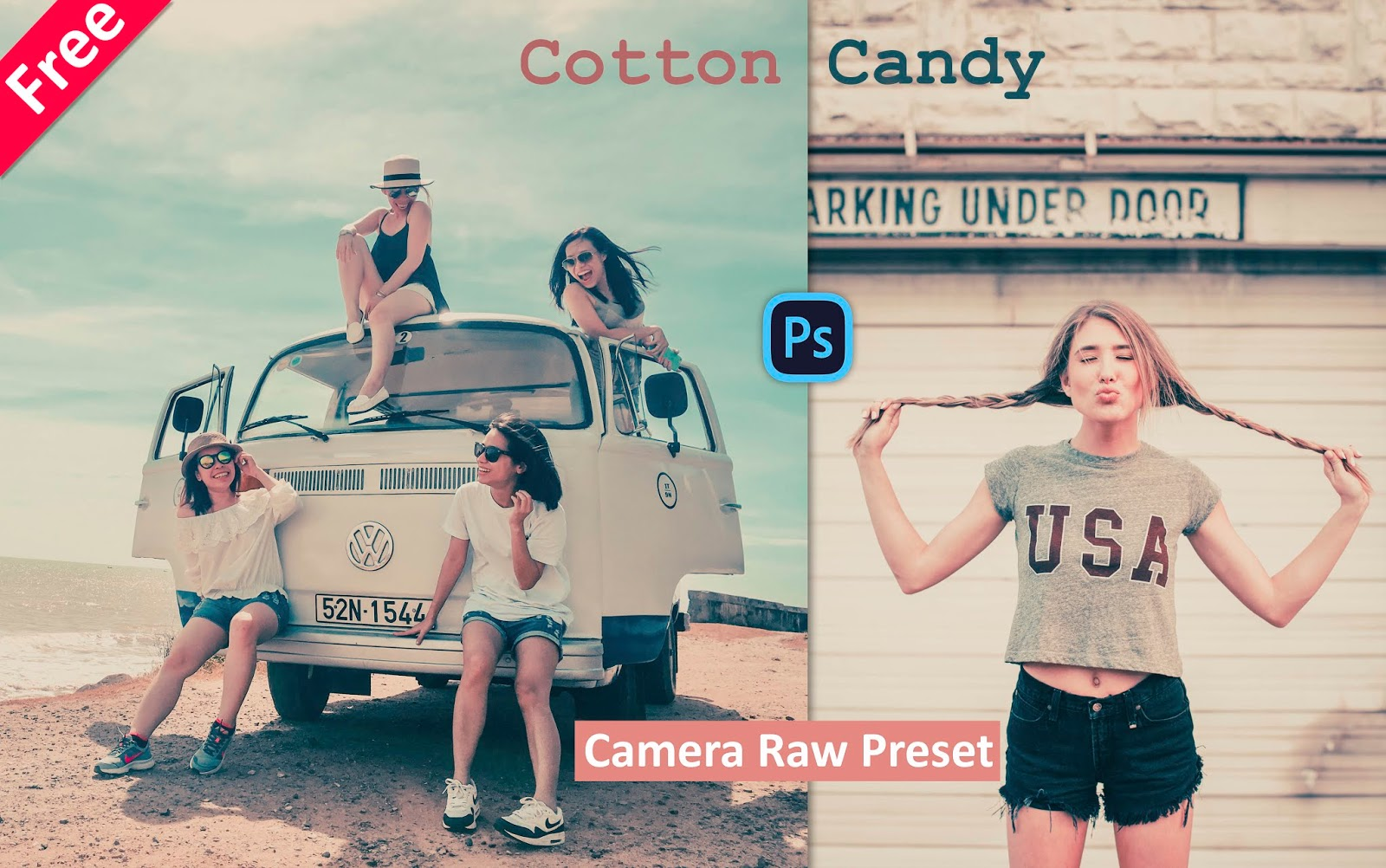 Download Cotton Candy Camera Raw Preset for Free | How to Create Cotton Candy Effect in Photoshop