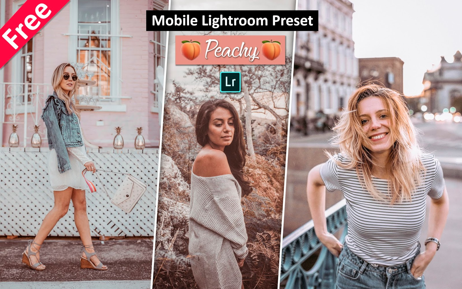 Download Peachy Mobile Lightroom Preset for Free | How to Create Peachy Pink Creamy Effect in Mobile Lightroom