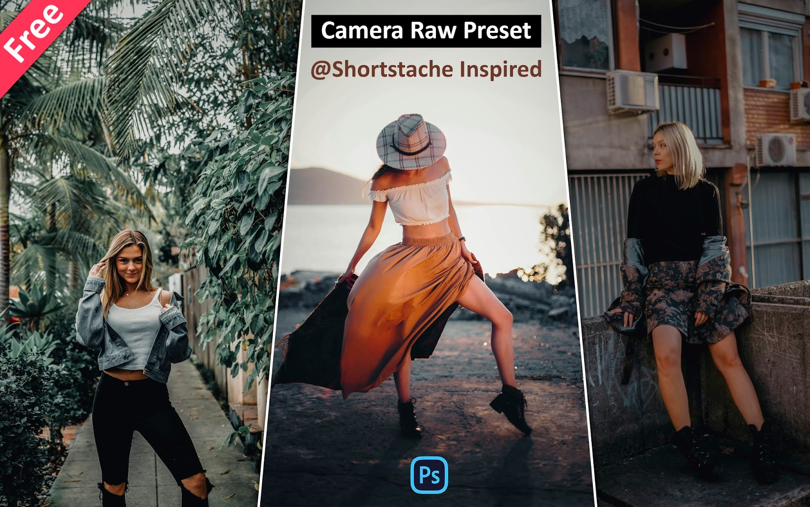 Download Shortstache Inspired Camera Raw Presets for Free | How to Edit Photos Like @shortstache in Photoshop