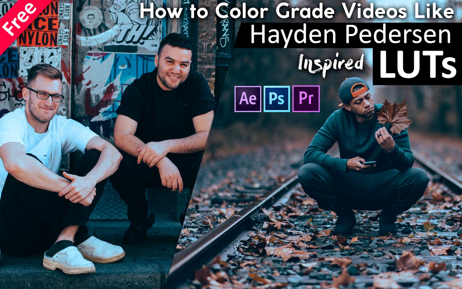 Download Hayden Pedersen Inspired LUTs for Free | How to Color Grade Your Videos in Adobe After Effects, Premiere Pro, Photoshop