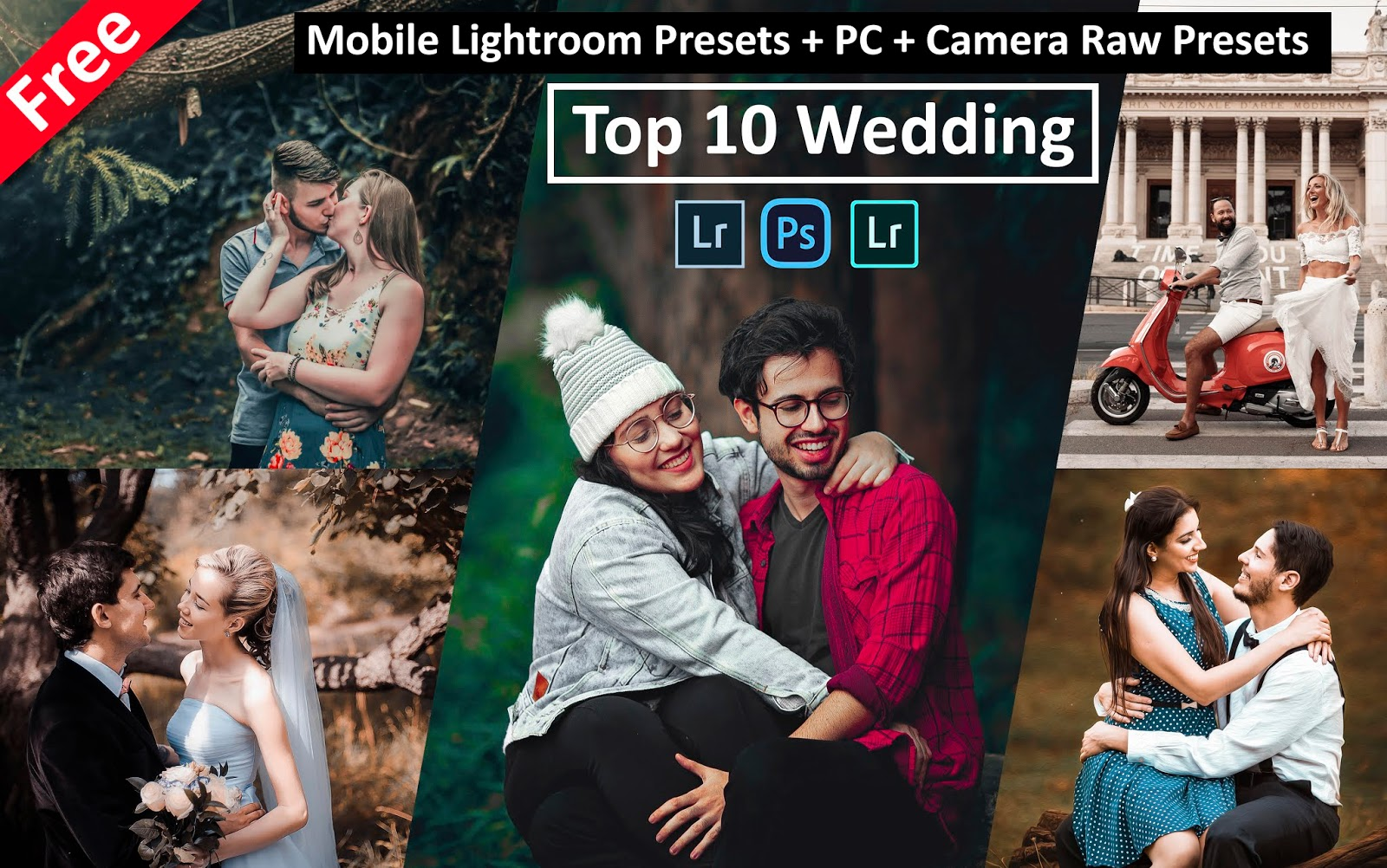Download Top 10 Wedding Mobile Lightroom Presets for Free | Best Wedding Mobile Lightroom Presets of All Time | How to Edit Wedding Photos in Mobile Lightroom