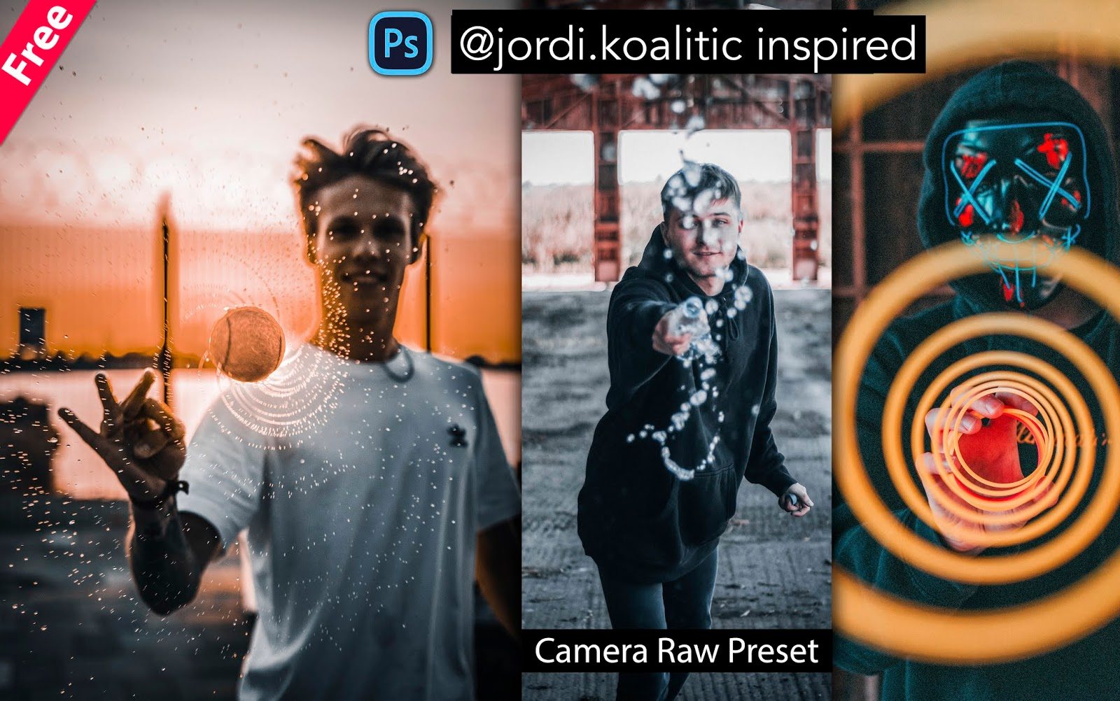 Download Jordi.Koalitic Inspired Camera Raw Presets for Free | How to Edit Photos Like @Jordi.Koalitic in Photoshop
