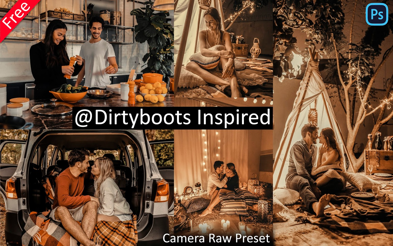 Dirtyboots Inspired Camera Raw Presets for Free | How to Edit Photos Like @dirtyboots in Photoshop