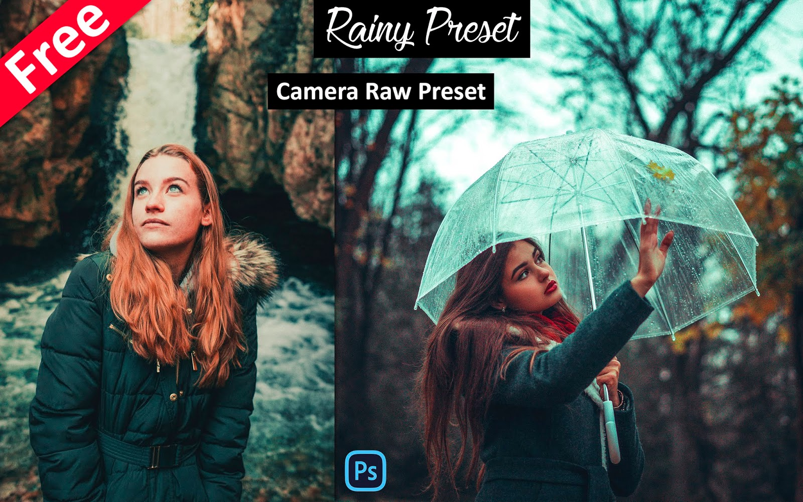 Download Monsoon Rainy Camera Raw Preset for Free | How to Create Monsoon Rainy Effect in Photoshop