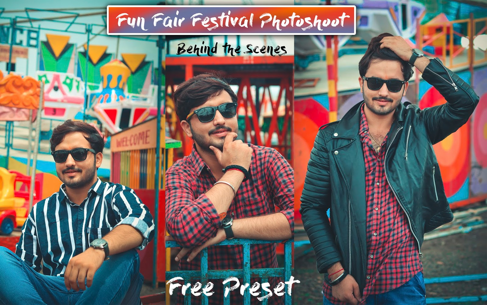 Top 10 Poses for Boys in FunFair Festival | Carousel Ride Photography | Download Preset used in this photo