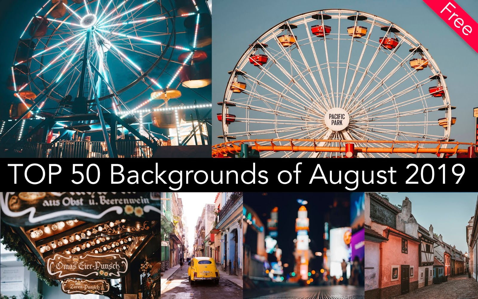 Download Top 50 Backgrounds of August 2019   .rar File Download