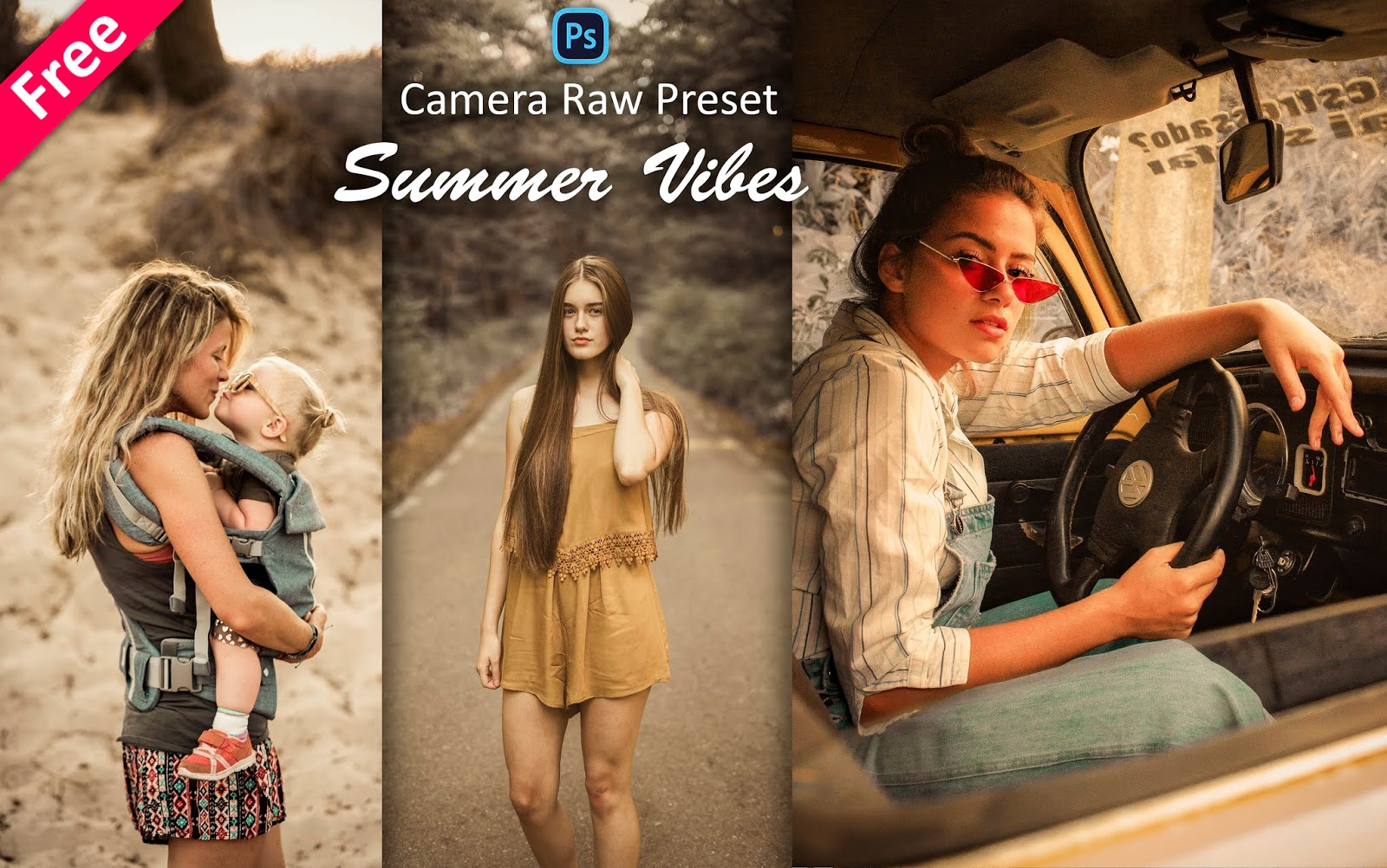 Download Summer Vibes Camera Raw Preset for Free | How to Edit Summer Effect in Photoshop