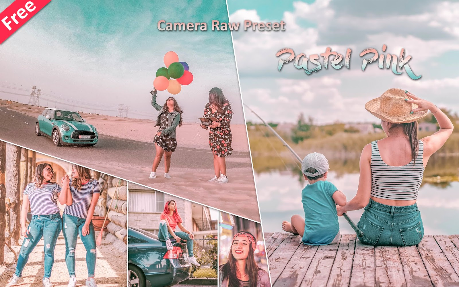 Download Pastel Pink Camera Raw Presets for Free | How to Edit Photos Like Pastel Pink Effect in Photoshop