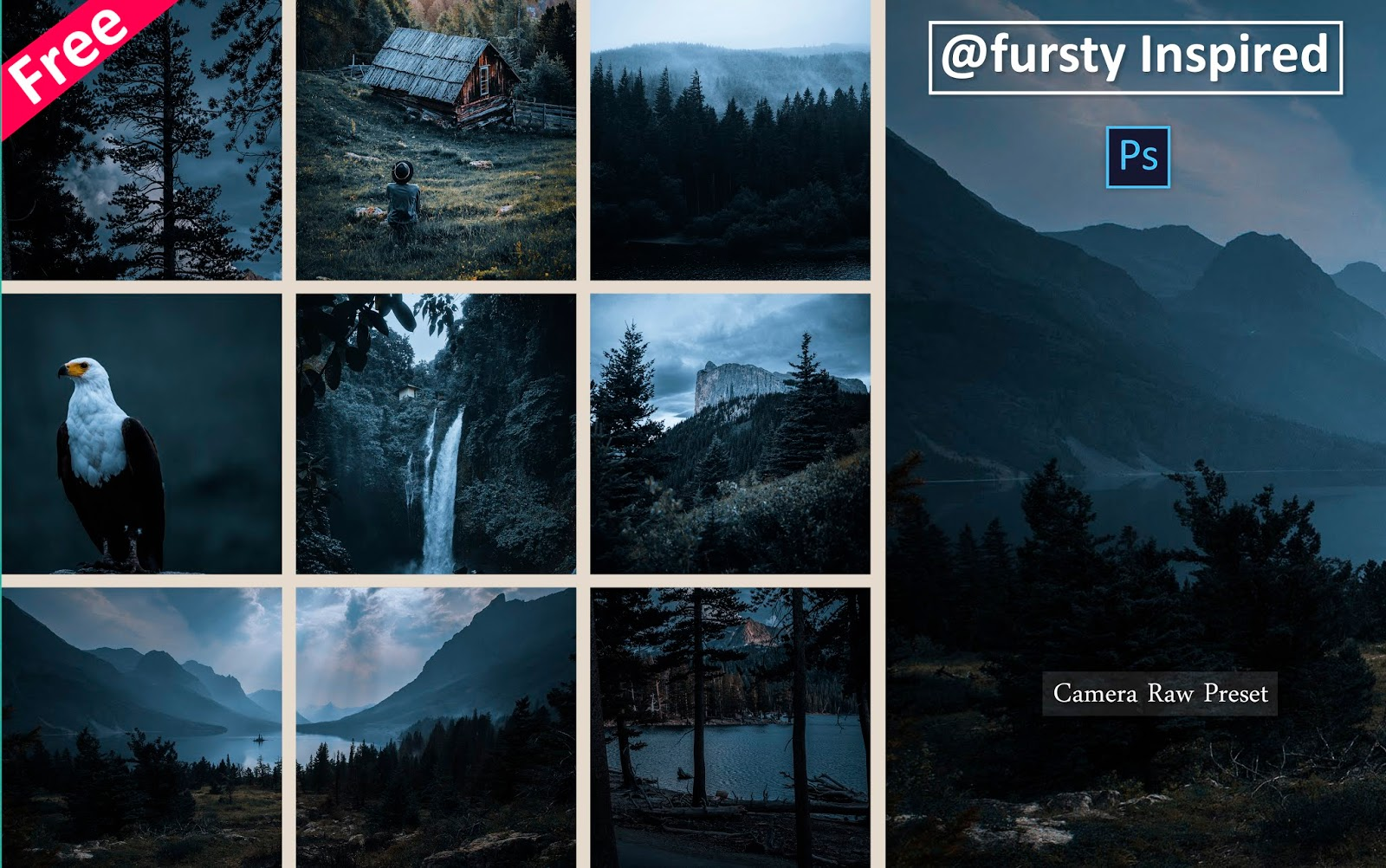Download Fursty Inspired Camera Raw Preset for Free | How to Edit Photos Like Fursty in Photoshop