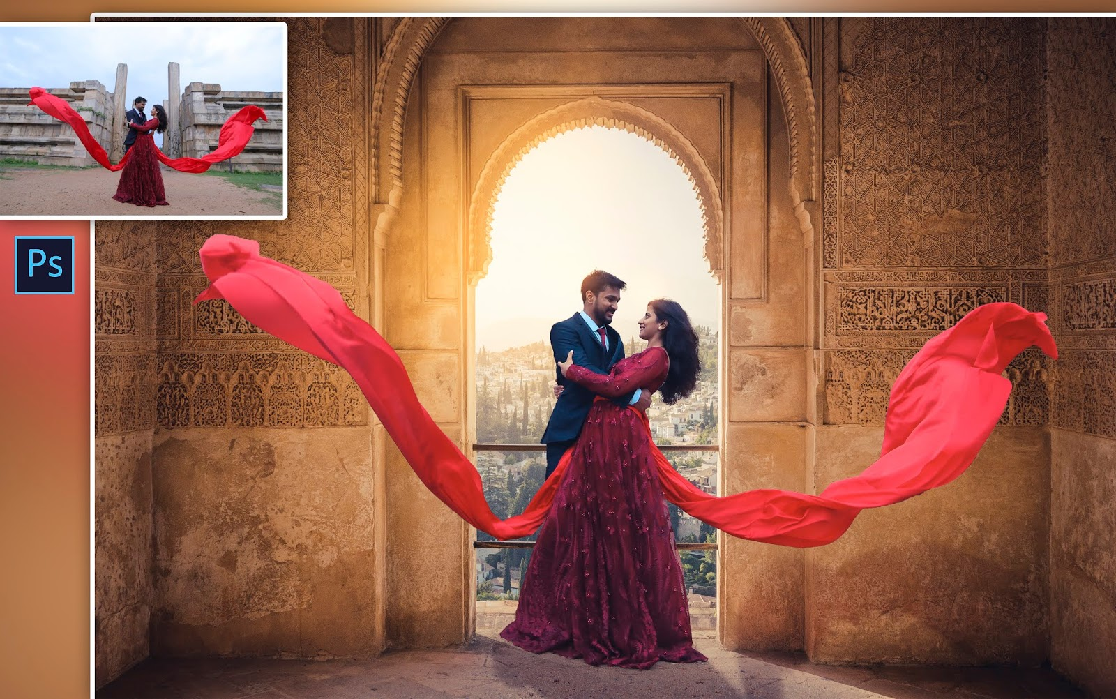 How to Edit Pre-Wedding Photos in Photoshop cc |  | Cinematic Couple Photo Editing in Photoshop