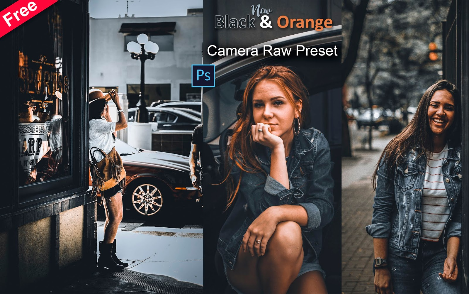 New Black & Orange Camera Raw Preset for Free | How to Edit Your Photos with Black & Orange Effect in Photoshop