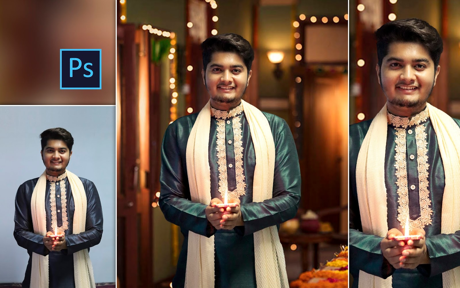 Diwali Special Photo Editing in Photoshop cc | Diwali Special Bokeh Photo Editing in Photoshop c