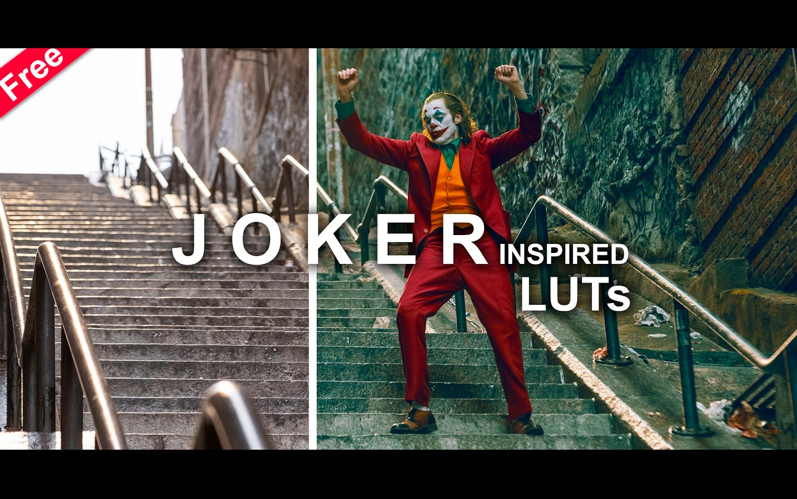 Download Free Joker Movie LUTs for Free | How to Color Grade Your Videos in Premier Pro, Adobe After Effects,  Photoshop