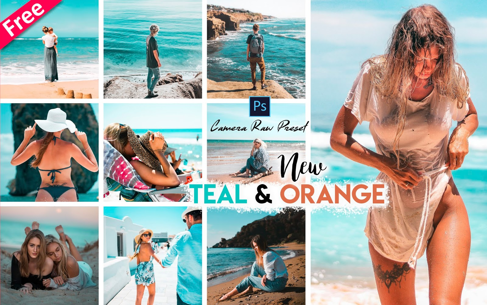 Teal & Orange Tone Camera Raw Presets for Free | How to Make Teal & Orange Tone Effect to Photos in Photoshop cc