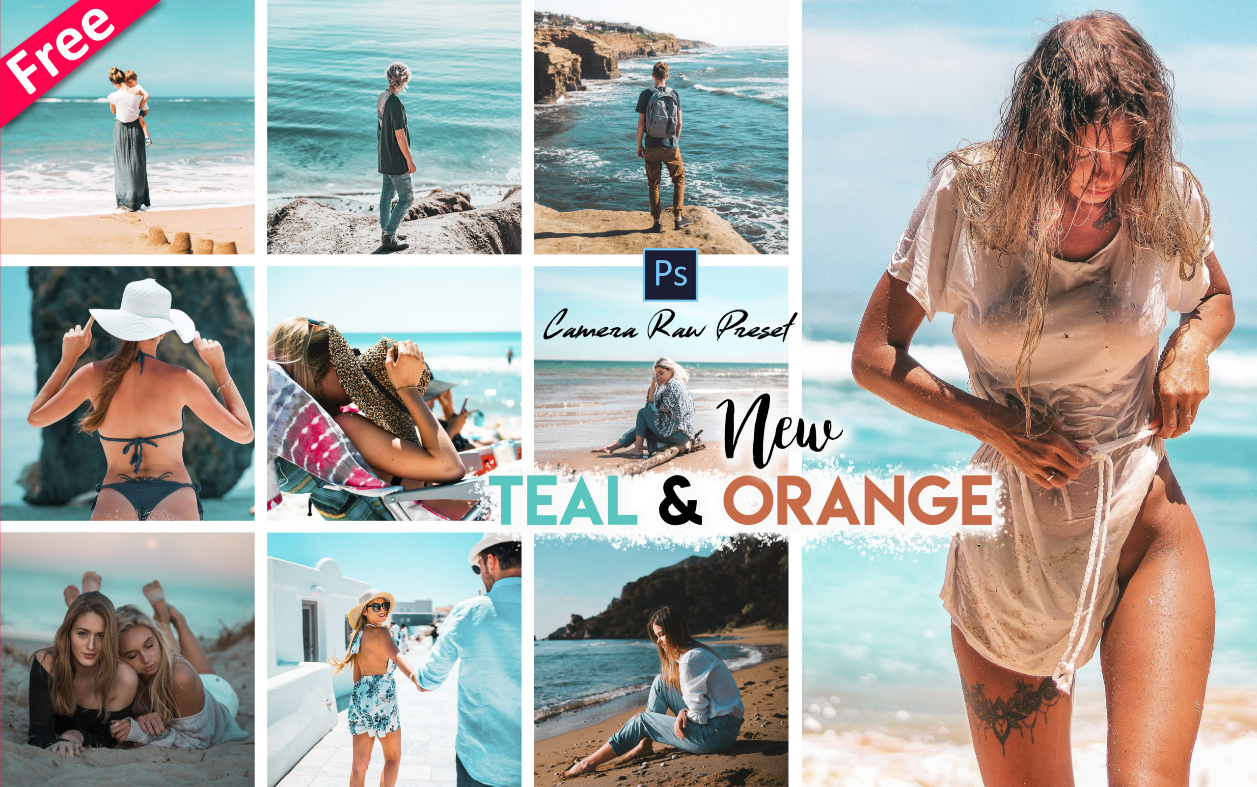 Teal & Orange Tone Camera Raw Presets for Free | How to Make Teal & Orange Tone Effect to Photos in Photoshop