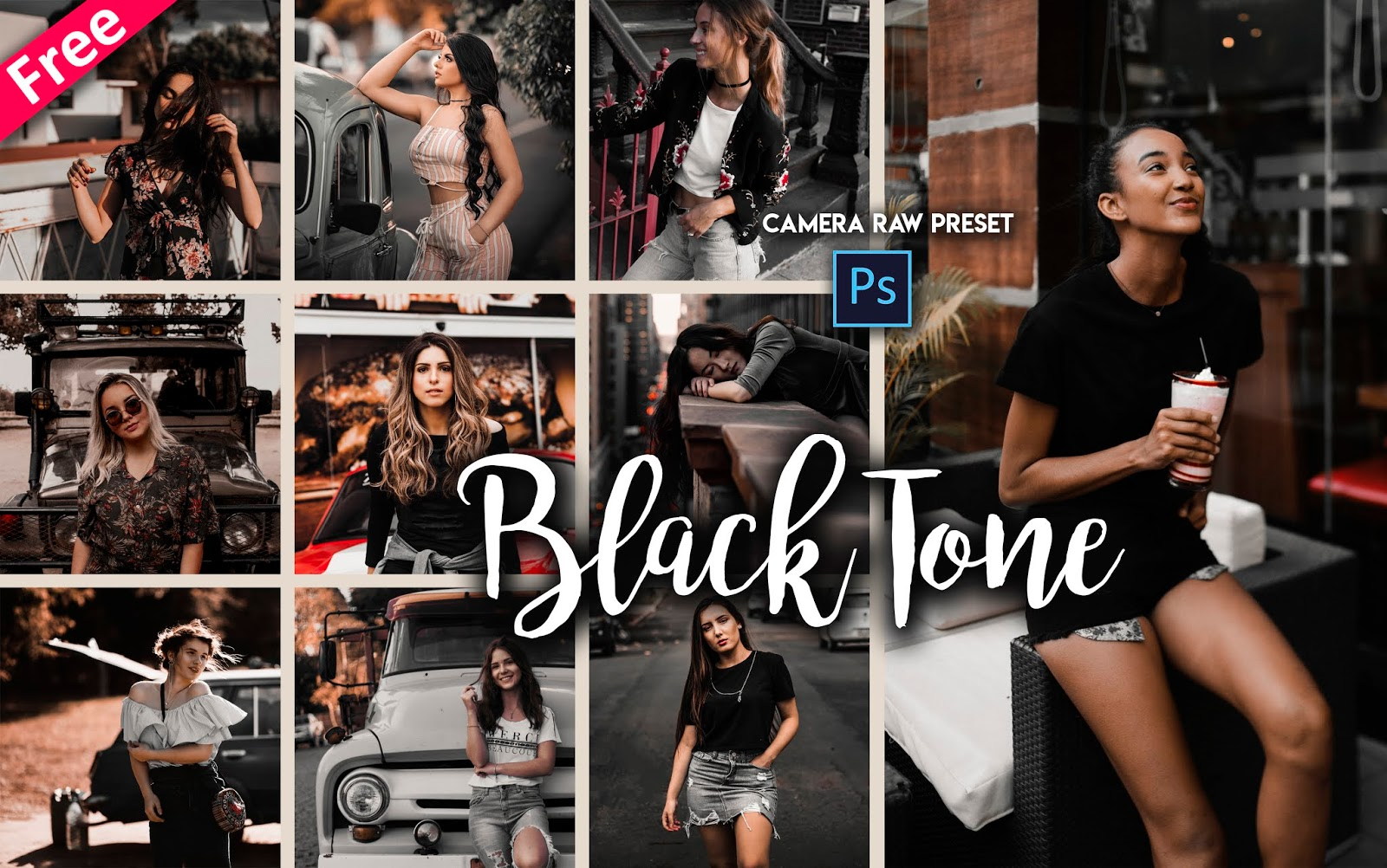Download Black Tone Camera Raw Presets for Free | How to Make Black & Brown Photos in Photoshop cc