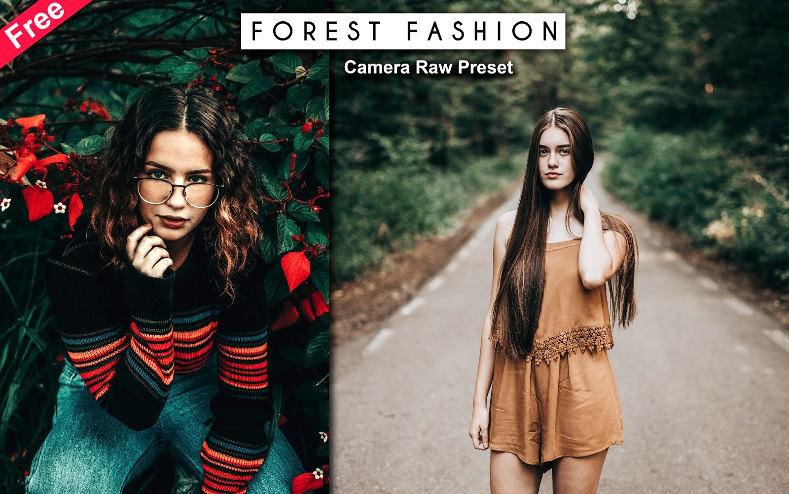 Download Forest Fashion Vibes Camera Raw Preset for Free | How to Edit Your Photos Like Forest Fashion Vibes in Photoshop