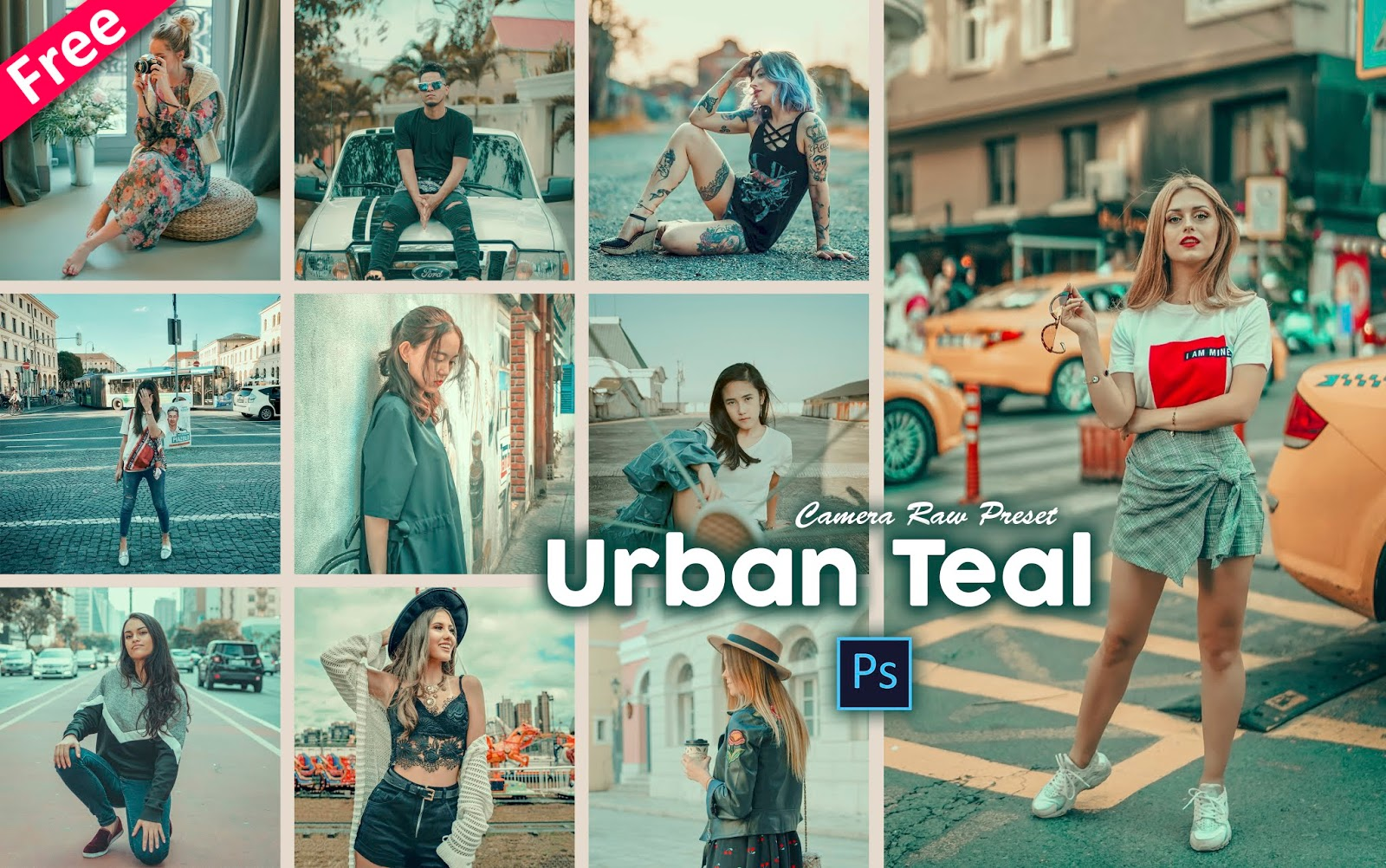 Urban Teal Tone Camera Raw Presets for Free | How to Make Urban Teal Effect to Photos in Photoshop cc